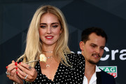 Chiara Ferragni rocked a bright red mani at the TAG Heuer Culinary Challenge.
