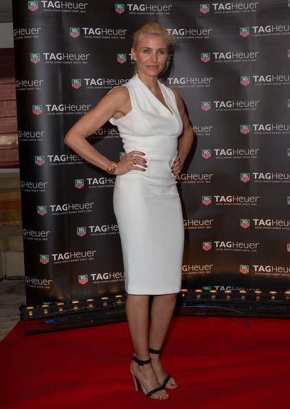 Cameron Diaz rocked a classic look at the Monaco Grand Prix Party where she wore this sleeveless white gown.