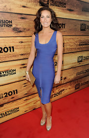 Laura was sultry in a lilac bandage dress while on the red carpet of the TCF Screenings Party.