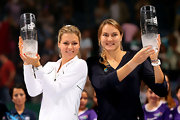 Maria Kirilenko sported a bright white track jacket at the awards ceremony of the Paribas WTA Championships in Istanbul.