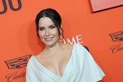 Sophia Bush wore her hair in a classic center-parted bun at the 2019 Time 100 Gala.