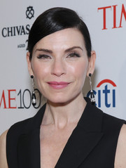 Julianna Margulies styled her hair into a sleek side-parted ponytail for the Time 100 Gala.