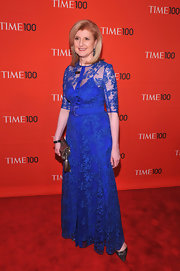 Arianna Huffington went for royal blue lace at the Time 100 Gala.