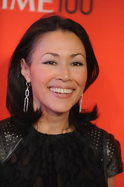Ann Curry wore her hair in a simple flip at the Time 100 Gala.