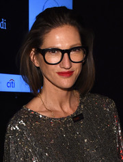 Jenna Lyons wore her bob slicked back at the top when she attended the Time 100 Gala.