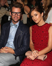 Brad Goreski looked super stylish in his signature bowtie that was color-coordinated with the rest of his look.