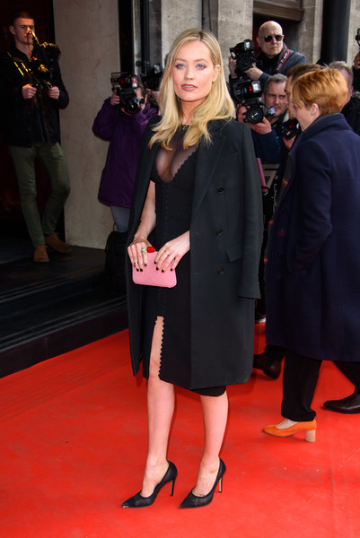 More Pics of Laura Whitmore Wool Coat (3 of 3) - Outerwear Lookbook - StyleBistro [red carpet,carpet,clothing,event,flooring,premiere,fashion,suit,dress,little black dress,red carpet arrivals,laura whitmore,tric awards,grosvenor house hotel,london,england]