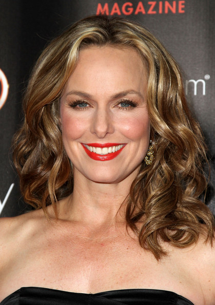 More Pics of Melora Hardin Red Lipstick (1 of 1) - Melora Hardin Lookbook - StyleBistro
