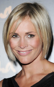 Attending a fashion launch in London, Jenni showed off her sleek blonde bob and sexy piecey bangs.