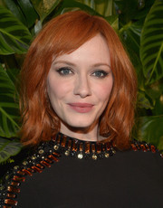 Christina Hendricks opted for casual, barely-there waves with side-swept bangs when she attended the Riviera at the Roosevelt event.