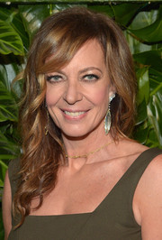 Allison Janney sported loose waves when she attended the Riviera at the Roosevelt event.