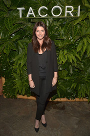 Katherine Schwarzenegger kept it simple in a black pantsuit during the Riviera at the Roosevelt event.