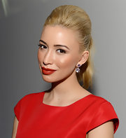 Christian Serratos sported super-full, luscious red lips at the City Lights Jewelry Collection launch.
