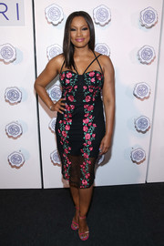 Garcelle Beauvais kept it girly all the way down to her hot-pink sandals.