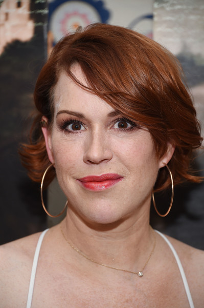 Molly Ringwald styled her short hair with flippy waves for the New York premiere of 'A Tale of Love and Darkness.'