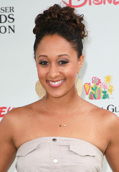 Tamera Mowry Gold Dangle Earrings