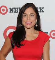 Bethenny showed off her side swept long straight locks while attending the opening of Target.