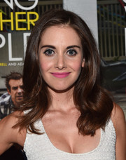 Alison Brie amped up the sweetness with a pink lip.