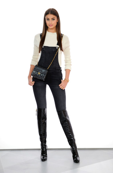 More Pics of Taylor Hill Overalls (1 of 11) - Overalls Lookbook - StyleBistro [taylor hill,amazon,style code live,clothing,shoulder,fashion model,black,jeans,leggings,waist,fashion,leg,leather,new york city]
