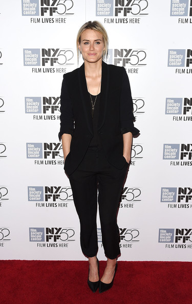 Taylor Schilling Pantsuit [listen up phillip,clothing,shoulder,outerwear,footwear,dress,formal wear,carpet,suit,joint,premiere,taylor schilling,phillip,alice tully hall,new york city,new york film festival,premiere]