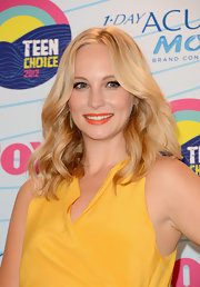 Candice Accola wore her hair loose with boho-chic waves at the 2012 Teen Choice Awards.