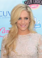 A cotton candy pink lipstick gave Carly Chaikin an ultra girly look.
