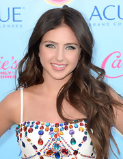 Ryan Newman's dewy pink lip gloss kept her beauty look young and playful.