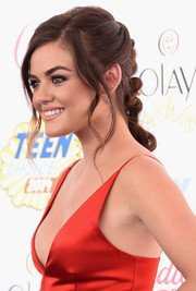 Lucy Hale pulled her hair back into a lovely braid for the Teen Choice Awards.