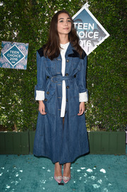 Rowan Blanchard's denim duster and mini dress at the Teen Choice Awards were a very cool pairing!