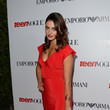 Phoebe Tonkin in a Red Dress