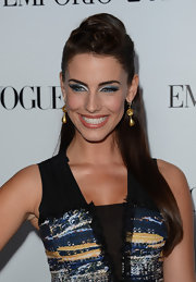 Jessica Lowndes took some cues from Nicole Scherzinger with this retro half-up 'do.