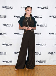 Storm Reid was all about relaxed glamour in a two-tone jumpsuit by Chloe at the Teen Vogue Summit.