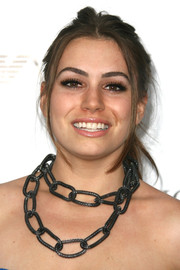 Sophie Simmons amped up the edge factor with a tousled ponytail and a rocker-glam chain necklace at the Teen Vogue Young Hollywood party.