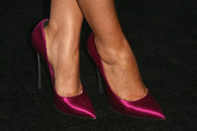Sarah Hyland stepped out in classy fuchsia satin pumps at the Teen Vogue Young Hollywood party.