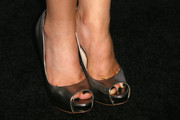 Bailey Buntain teetered on a pair of silver platform peep-toes at the Teen Vogue Young Hollywood party.