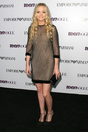 Portia Doubleday looked oh-so-chic in a mesh cocktail dress during the Teen Vogue Young Hollywood party.