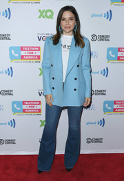 Sophia Bush kept it casual in flare jeans at the Telethon for America.