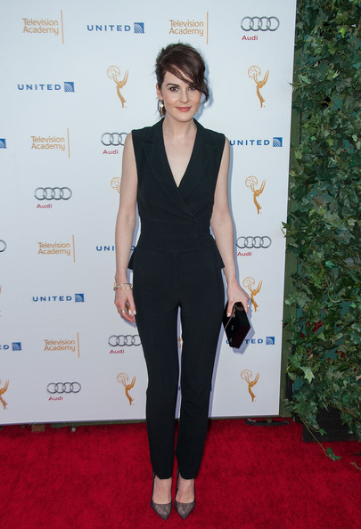 More Pics of Michelle Dockery Box Clutch (1 of 11) - Michelle Dockery Lookbook - StyleBistro [red carpet,clothing,carpet,dress,shoulder,suit,formal wear,fashion,pantsuit,joint,arrivals,michelle dockery,spectra,pacific design center,west hollywood,california,television academy,66th annual emmy awards,reception,nominee reception]