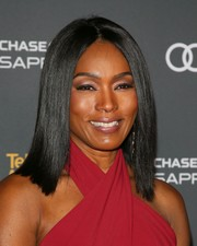 Angela Bassett flaunted a perfectly sleek hairstyle at the Television Academy reception for Emmy-nominated performers.