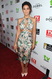 Emmanuelle Chriqui heated up the red carpet in a Zimmermann floral frock with a trio of sexy cutouts during the Television Industry Advocacy Awards.
