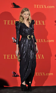 Maria Leon's vintage python-print gown was completed by stand-out accessory choices at the 2010 Telva Awards in Madrid.