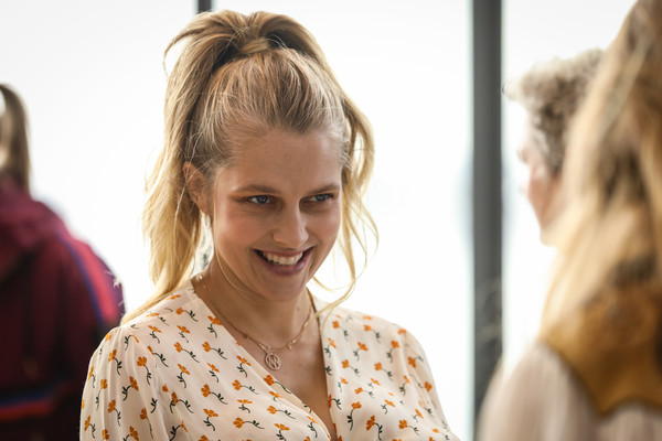 Teresa Palmer Ponytail [the art of wellness,aw19,hair,hairstyle,face,blond,beauty,skin,long hair,fashion,bun,shoulder,david jones,teresa palmer,the museum of old and new art,australia,hobart,the art of wellness,event,david jones aw19 season launch]