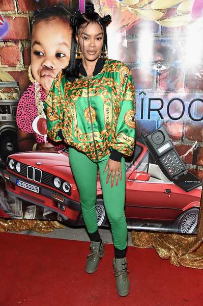 Teyana Taylor Basketball Sneakers [vehicle,car,subcompact car,teyana taylor,new york city,junie bee nail salon,grand opening,junie bee nail salon grand opening]