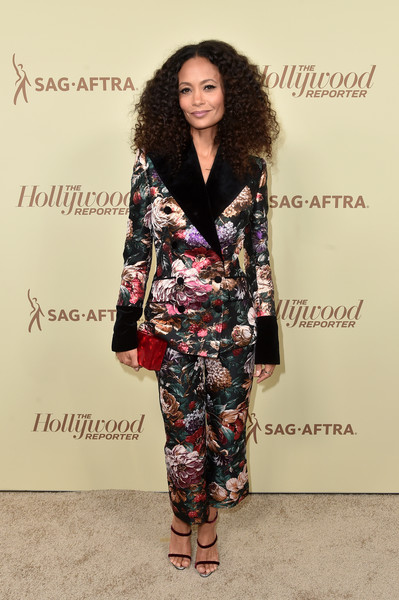 Thandiwe Newton Strappy Sandals [the hollywood reporter,clothing,fashion model,fashion,suit,hairstyle,fashion design,pantsuit,footwear,long hair,fashion show,nominees,contenders,reporter,arrivals,contenders,celebrate emmy award,fashion,hollywood,sag-aftra,tracee ellis ross,hollywood,emmy award,70th primetime emmy awards,sag-aftra,the hollywood reporter,television,primetime emmy award,image]