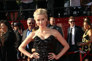 Actress Amber Heard arrives at The 2011 ESPY Awards at Nokia Theatre L.A. Live on July 13, 2011 in Los Angeles, California.