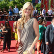Jennie Finch in a One-Shoulder Stunner