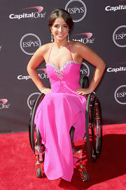 Victoria Arien's hot pink gown showed off her glamorous red carpet style.