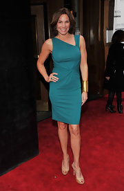 LuAnn looked fit and fabulous in this ruched, asymmetric neckline dress at the premiere of 'The Decision' in NYC.