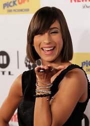Medina looked fab with her bob cut at The Dome 55 in Germany.