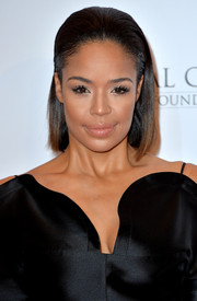 Sarah-Jane Crawford styled her hair in a slicked-back bob for the Global Gift Gala.